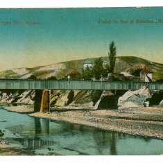 1055 - Bacau, SLANIC MOLDOVA, bridge from Monastery Raducanu - old PC used 1924 - Carte Postala Moldova 1904-1918, Circulata, Printata