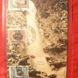 Ilustrata TCV Sinaia - Cascada Urlatoarea, cu seria Ocupatia Bulgara in Romania - Carte Postala Muntenia dupa 1918