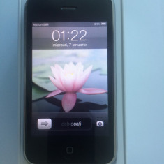 VAND TELEFON iPhone 3Gs Apple IN STARE EXCELENTA CU BATERIE IN GARANTIE, Negru, 16GB, Neblocat