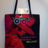 Geanta Desigual Womens Bols Shopping Bag 2 Tote - Geanta Dama, Culoare: Din imagine, Marime: Medie, Geanta sacosa, Din imagine, Nilon