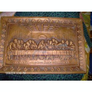 tablou bronz cina cea de taina peste 70 ani