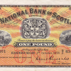 SCOTIA 1 pound 1956 VF+++!!!
