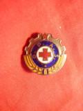 Insigna Cruce Rosie- Gata pt. Apararea Sanitara GPAS , d= 1,8 cm