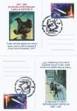 SET 4 CARTI POSTALE   LAIKA IN COSMOS  50 ani   -2007
