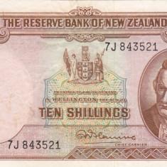 NOUA ZEELANDA 10 shillings 1940-55 VF+++!!!