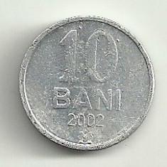 MOLDOVA 10 BANI 2002 [2] livrare in cartonas, Europa, Aluminiu