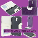 Husa Samsung Galaxy Mega 6.3 i9200 + stylus universal compatibil, Mov, Alt material