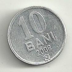 MOLDOVA 10 BANI 2008 [1] XF++ livrare in cartonas, Europa