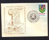 PLIC*EXPOZITIA FILATELICA INTERJUDETEANA*FILE DE ISTORIE*140 DE ANI DE LA REVOLUTIA DIN 1848*TELEORMAN-ALEXANDRIA 1988, Romania de la 1950, Militar