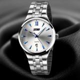 Ceas Original SKMEI 9071 Silver Blue Business - Ceas barbatesc