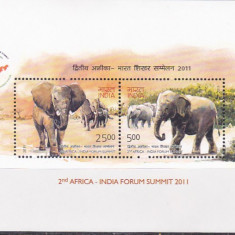 Fauna, elefanti forum Africa, India. - Timbre straine, Nestampilat