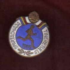 INSIGNA SPARTACHIADA TINERETULUI 1956