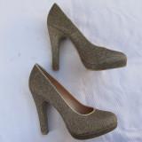 GRACELAND - PANTOFI DIN TEXTIL AURIU, CA NOI, NR. 36 - Pantof dama, Culoare: Din imagine