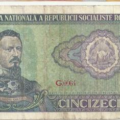 ROMANIA 50 LEI 1966 [10] - Bancnota romaneasca