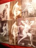 Set 10 Fotografii Artistice - Nud -copii interbelice fotografii anii '20