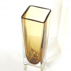 Vaza cristal sommerso suflata manual - design Nils Landberg Orrefors Suedia - Arta din Sticla