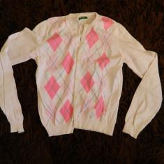 Pulover pentru femei, sfeter, bluza cu nasturi, marimea S-M, marca Benetton