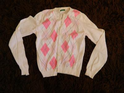 Pulover pentru femei, sfeter, bluza cu nasturi, marimea S-M, marca Benetton foto