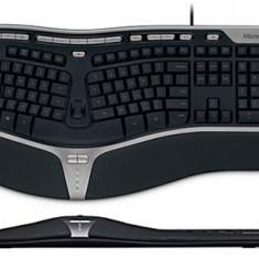Vand Tastatura Microsoft Natural Ergo 4000, Ergonomica, Cu fir, USB