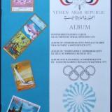 ALBUM FILATELIC - JOCURILE OLIMPICE MUNCHEN 1972 18 EMISIUNI YEMEN
