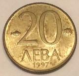 G7. BULGARIA 20 LEVA 1997, 2.50 g., Brass, 17.5 mm XF **, Europa