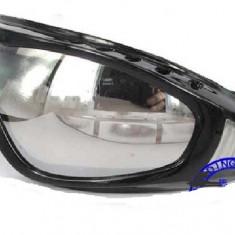 Ochelari Moto / Ski / Snowboard iarna unisex rama neagra, lentila oglinda - Ochelari ski