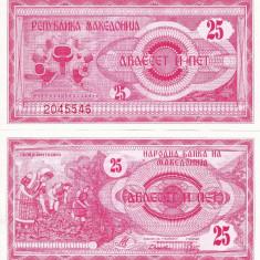 MACEDONIA 25 dinari 1992 UNC!!!