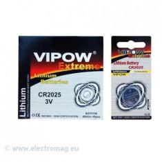 BATERIE VIPOW EXTREME CR2025 1 BUC/BLISTER - Baterie ceas