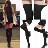 Dres sexy imitatie de ciorapi pana la genunchi portjartier fals in doua nuante, Din imagine