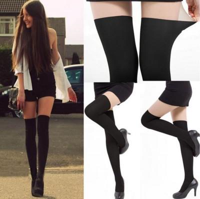Dres sexy imitatie de ciorapi pana la genunchi portjartier fals in doua nuante foto