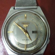 Seiko 5 Vintage - Ceas barbatesc Seiko, Mecanic-Automatic, Inox, Ziua si data, Analog