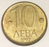 G7. BULGARIA 10 LEVA 1997, 1.50 g., Brass, 15.5 mm XF **, Europa