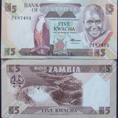 ZAMBIA - BANCNOTA 5 KWACHA (UNC) - BC 23