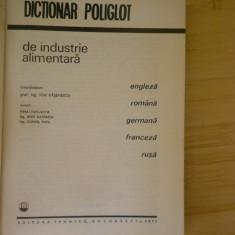 ION RASENESCU--DICTIONAR POLIGLOT DE INDUSTRIE ALIMENTARA - Carti Industrie alimentara