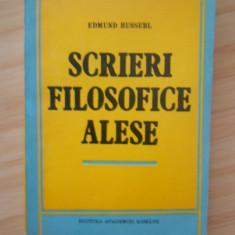 EDMUND HUSSERL--SCRIERI FILOSOFICE ALESE, Alta editura