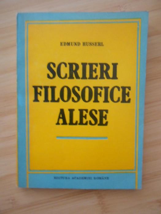 EDMUND HUSSERL--SCRIERI FILOSOFICE ALESE
