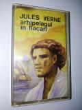 Caseta audio Electrecord, povesti copii,Jules Verne Arhipelagul in flacari, Casete audio