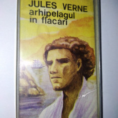 Caseta audio Electrecord, povesti copii, Jules Verne Arhipelagul in flacari - Muzica pentru copii electrecord, Casete audio