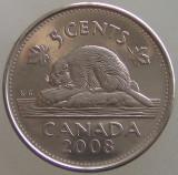 CANADA KM#491 - 5 Cent 2008, America de Nord