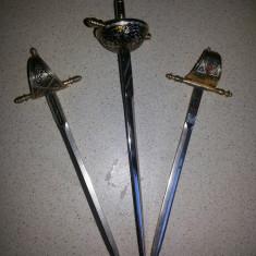 """Sabii vechi ,cu garda  """"Toledo"""", miniaturale"""