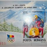 Romania 1992, Jocurile Olimpice de iarna Albertville, LP 1276 - Timbre Romania, Sport, Nestampilat