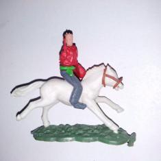FIGURINA PLASTIC - Cowboy + cal, Hong Kong - Miniatura Figurina