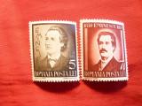 Serie Mihai Eminescu -La 50 Ani de la moarte 1939 Romania , 2 val.
