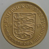 JERSEY KM#22 - 1/4 Shilling 1957, Europa
