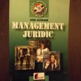 MANAGEMENT JURIDIC - ION AVRAM - Carte Management