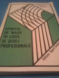 SPORTUL DE MASA IN LICEE SI SCOLI PROFESIONALE 1977