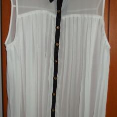 NOU Camasa alba contrast guler negru PRIMARK ATMOSPHERE UK 14 EUR 42 - Camasa dama Zara, Fara maneca, Universala