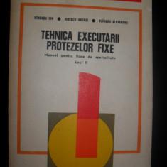 Tehnica executarii protezelor fixe, Ion Randasu coletiv (anul II)