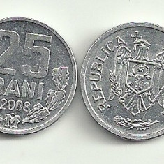MOLDOVA 25 BANI 2008 a UNC [1] livrare in cartonas, Europa, Aluminiu