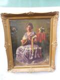 Geiger Richard(1870-1945) LUCRARE ORIGINALA, Portrete, Ulei, Impresionism